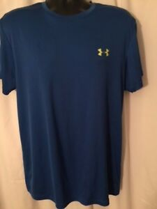 Under Armour Men's Blue Short Sleeve Athletic Shirt SIze XL Tall