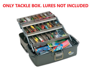Large Three Tray Tackle Box Fishing Bait Full Bait Storage Case Lures Top Access