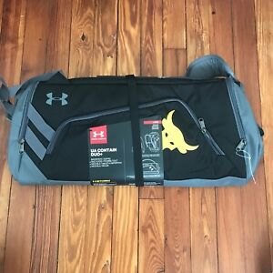 New! Under Armour Project Rock UA Contain Duo+ Backpack Duffel Bag The Rock