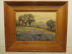 9x12 original 1940 oil painting by Rolla Taylor of