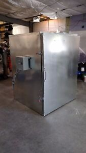 batch powder coat electric curing oven   4x4x6 NEW   blower fan system cerakote