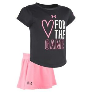 Under Armour NWT Girls Toddler Tee Top Shorts Skirt Set Outfit Sports Athletic
