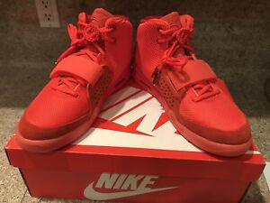 Nike Air Yeezy 2 October Red 12 Kanye West Dove