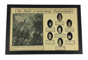 The Battle of Gettysburg Pennsylvania 7 piece bullet relic collection with COA