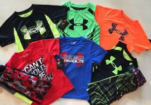 BOYS 4 UNDER ARMOUR LOT OF 6 SPRINGSUMMER LOT OF SHIRT & SHORTS OUTFITS NWT