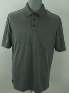 MENS CHAMPION GOLF DUO DRY FIT PERFORMANCE LIGHTWEIGHT Solid POLO SHIRT L