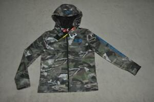 Under Armour Boys Storm Camo Full Zip Hunting Hoodie 1297459 943 NWT $42.99