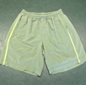 Lululemon Mens Pace Breaker 3 Pocket Shorts with Liner Olive Green Size Small