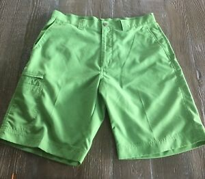 Mens Green Callaway Golf Shorts Size 34 W Cargo Pocket