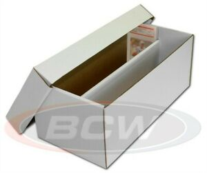 BCW Graded Card Shoe Storage Box 2 Row Cardboard Lid PSA Beckett Other Trading $16.78