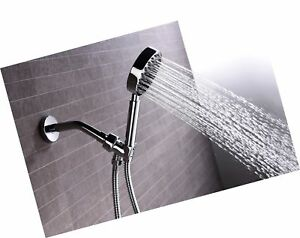 100% Solid Metal Hand Held Shower Head Set with 2.5 GPM High Pressure Spray W...