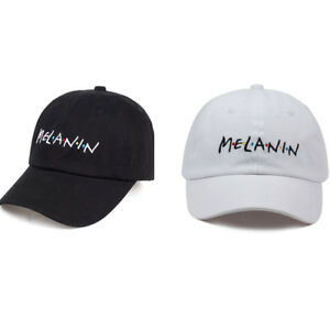 MELANIN Letter Embroidery Baseball Cap Women Adjustable Hat Men Fashion Dad Hats