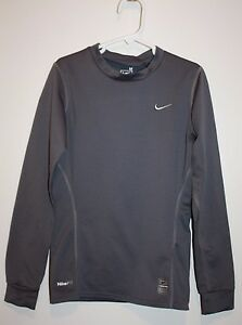 Nike PRO Fit-Dry Pull Over Athletic Kids Shirt Gray Color Size M
