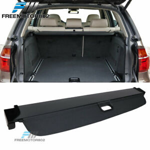 Fits 07-13 BMW X5 Tonneau Cover Rear Retractable Cargo Cover PU Leather Black