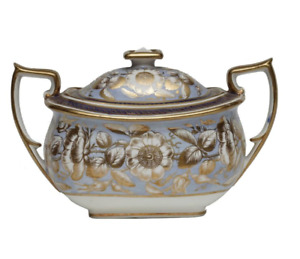 New Hall Double Handled Sugar Bowl and Cover