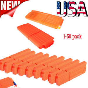 1-50pack 12 Reload Clip Magazine Bullets Darts Replacement for Kids Toy Gun