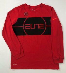 Boy's Youth Nike Elite Dry Dri-Fit Athletic Cut Long Sleeve Shirt