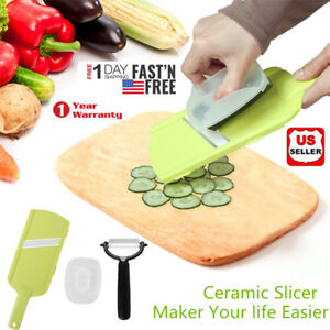 Double Edged Ceramic Peeler Mandoline Slicer kitchen Tool Kit Hand Held Fruit