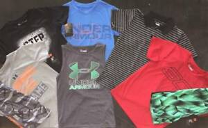 BOY'S SIZE 6 UNDER ARMOUR LOT OF 12 ITEMS SHIRTS & SHORTS OUTFITS NWT