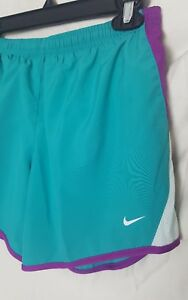 Nike Dry Fit Girl's Athletic Shorts Green Purple Retail $26 mesh side panty NWT