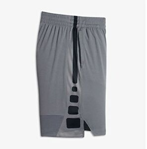 Boy's Size 7 Nike Dry Dri Fit Basketball Short Pant In Cool Grey NWT