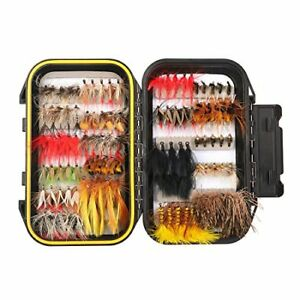 100PCS Fly Fishing Flies Kit Assorted Flies Trout Flies Fly Fishing Lures wit...