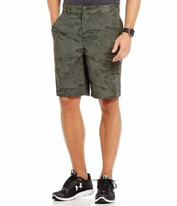 Under Armour Fish Hunter Flat-Front Heat Gear Camo Athletic Storm GOLF Shorts