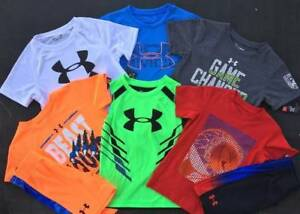 BOYS 44T UNDER ARMOUR LOT OF 6 SPRINGSUMMER LOT OF SHIRT & SHORTS OUTFITS NWT