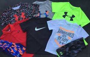 BOYS 5 UNDER ARMOUR & NIKE LOT OF 12 ITEMS SHIRT & SHORTS OUTFITS NWT