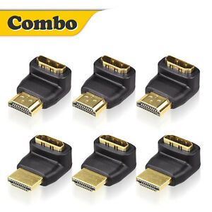 90270 Degree Right Angle HDMI Male to Female MF Swivel Adapter Extender 1080P