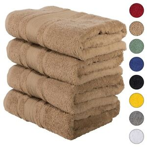 NEW BROWN Color ULTRA SUPER SOFT LUXURY PURE TURKISH 100% COTTON BATH TOWELS