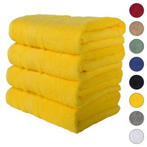 NEW YELLOW Color ULTRA SUPER SOFT LUXURY PURE TURKISH 100% COTTON BATH TOWELS