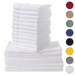 NEW WHITE Color ULTRA SUPER SOFT LUXURY PURE TURKISH 100% COTTON WASHCLOTHS