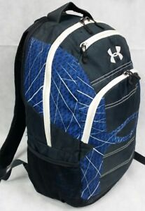 Under Armour School Workout Gym Laptop Backpack Bag HEAT BLACK BLUE CARRY ON MEN