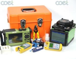 Trunk fusion splicer kit + PON OTDR 131014901550nm + OPM+OLS+VFL fiber optic