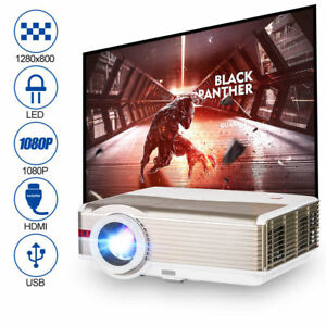 EUG 5000Lumens LED LCD HD 1080p Video Projector Home Theater Movie Baseball Game