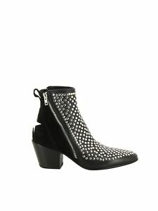Mexicana Women's Bi0051 Black Leather Ankle Boots
