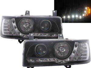 Caravelle T4 90-03 Projector LED R8Look Headlight Black V1 for VW Volkswagen RHD