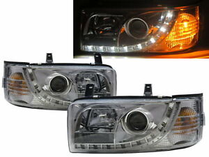 Caravelle T4 90-03 Projector LED R8Look Headlight Chrome V2 for Volkswagen LHD