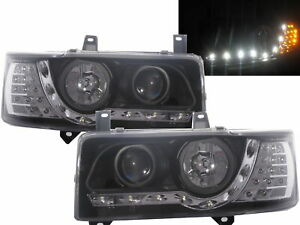 Eurovan T4 90-03 Projector LED R8Look Headlight Black V1 for VW Volkswagen LHD