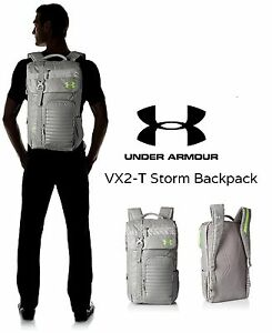 Under Armour Vx2-T Storm Water Resistant Backpack Gray One Size - New with Tags