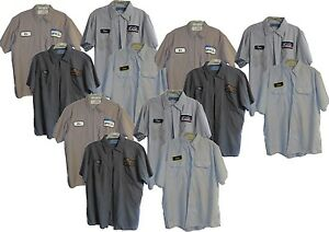 Lot of 12 quot;Bquot; Grade Used Work Shirts Small S Short Sleeve Brands Cintas Red Kap