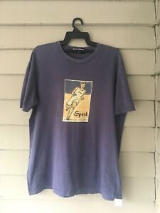 VINTAGE 90s POLO SPORT RUNNING TRACK RALPH LAUREN T SHIRT LARGE PWINGS 9192