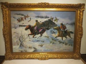 24x36 org. 1977 oil painting by Joe Rader Roberts of