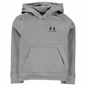 Under Armour Kids Boys Logo OTH Hoodie Junior Hoody Hooded Top Long Sleeve