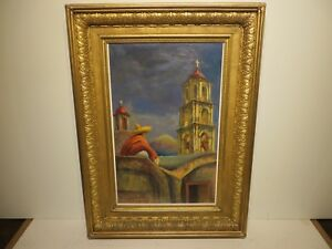 23x15 original 1954 oil & watercolors painting by Rolla Taylor of