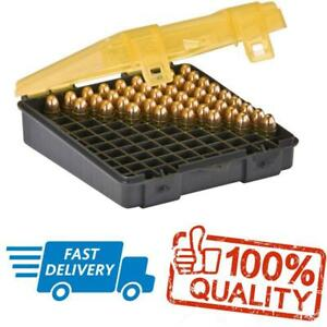 Pistol Ammo 9mm Bullet Case Box Storage Organizer 100 Count Handgun Gun Large