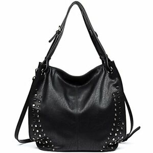 Clearance Hobo Women Handbags Shoulder Tote Purse Rivet Top Handle PU Leather By