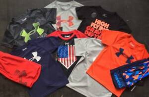 BOYS 44T UNDER ARMOURNIKE LOT OF 12 PIECES SUMMER LOT SHIRTSHORTS OUTFITS NWT