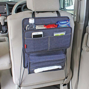 New Blue Jean Seat Back Organizer Holder Storage Car Accessories